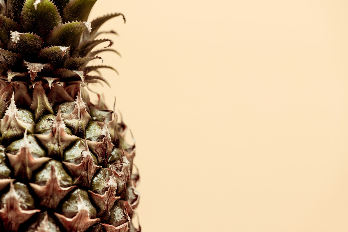 Close-up of half a pineapple - slon.pics - free stock photos and illustrations