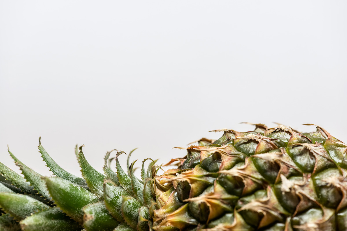 Close-up of half a pineapple. Horizontal - slon.pics - free stock photos and illustrations