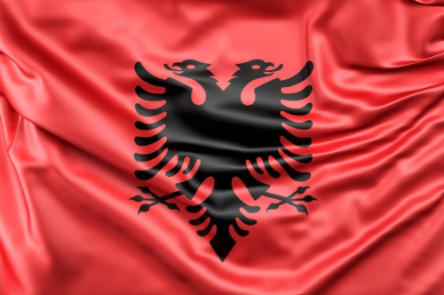 Flag of Albania - slon.pics - free stock photos and illustrations