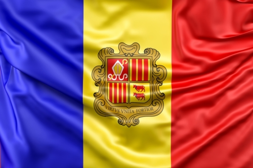 Flag of Andorra - slon.pics - free stock photos and illustrations