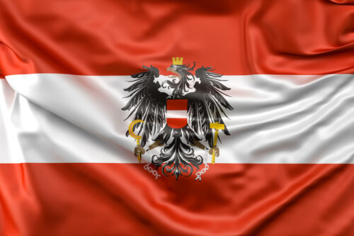 Flag of Austria with ensign - slon.pics - free stock photos and illustrations