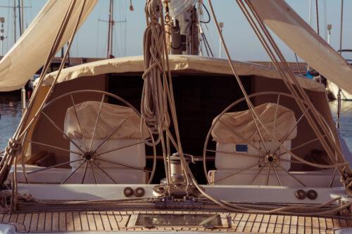 Modern sailing yacht steering wheels - slon.pics - free stock photos and illustrations