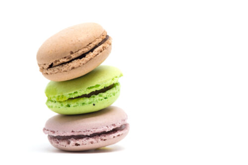 Pile of colorful macaroons isolated white background - slon.pics - free stock photos and illustrations