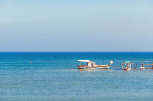 Traditional mediterranean fishing boat - slon.pics - free stock photos and illustrations