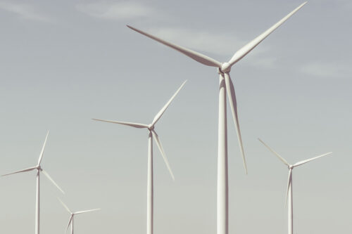 Wind Turbines On A Summer Day - slon.pics - free stock photos and illustrations