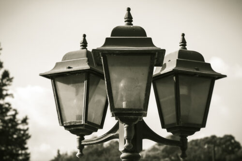 Closeup of a street lamp - slon.pics - free stock photos and illustrations