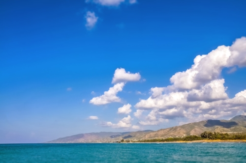 Clouds above the sea. Mediterranean - slon.pics - free stock photos and illustrations