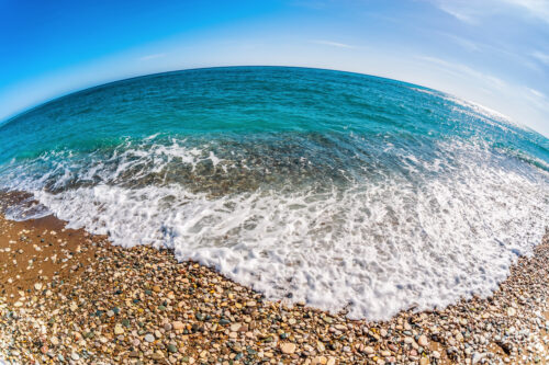 Fisheye view of Mediterranean Seascape - slon.pics - free stock photos and illustrations