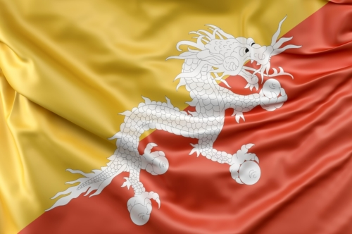 Flag of Bhutan - slon.pics - free stock photos and illustrations