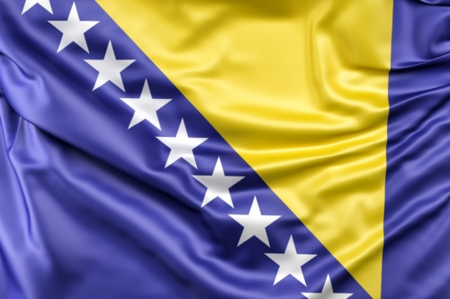 Flag of Bosnia and Herzegovina - slon.pics - free stock photos and illustrations