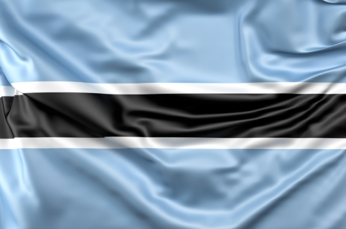 Flag of Botswana - slon.pics - free stock photos and illustrations