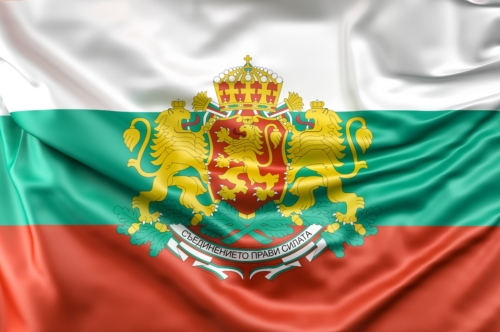 Flag of Bulgaria with Coat of Arms - slon.pics - free stock photos and illustrations