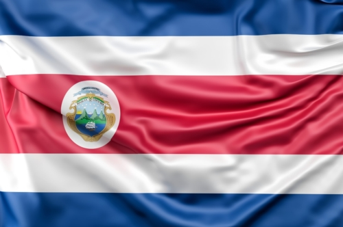 Flag of Costa Rica with ensign - slon.pics - free stock photos and illustrations