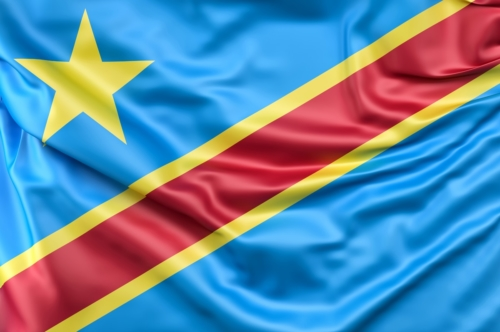 Flag of Democratic Republic of the Congo - slon.pics - free stock photos and illustrations