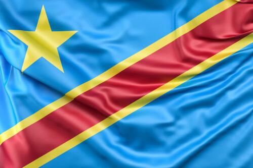 Flag of Democratic Republic of the Congo - slon.pics - free stock photos and illustrations