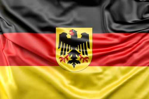Flag of Germany with Coat of Arms - slon.pics - free stock photos and illustrations