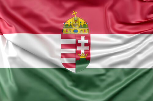 Flag of Hungary with Coat of Arms - slon.pics - free stock photos and illustrations