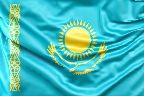 Flag of Kazakhstan - slon.pics - free stock photos and illustrations
