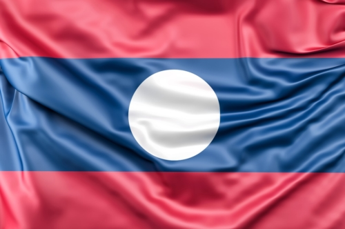 Flag of Laos - slon.pics - free stock photos and illustrations