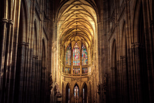 Interior of St. Vitus Cathedral. Prague, Czech Republic - slon.pics - free stock photos and illustrations