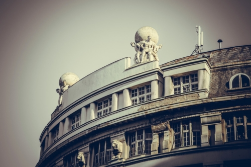 Part of old building in the city center of Belgrade, Serbia - slon.pics - free stock photos and illustrations