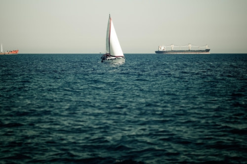 Sailing ship in the mediterranean sea - slon.pics - free stock photos and illustrations