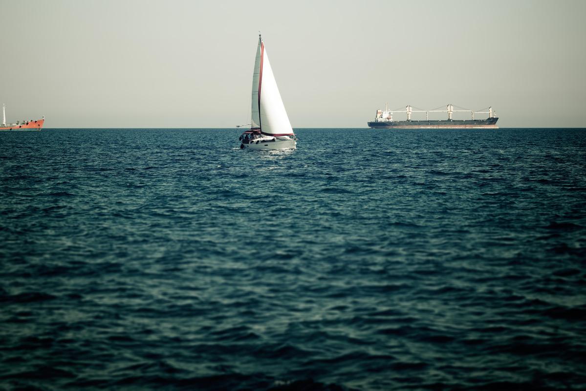 Sailing ship in the mediterranean sea - slon.pics - free stock photos and illustrations