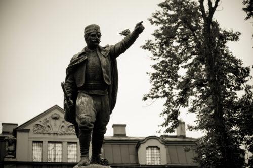 Vojvoda Vuk Monument, also known as Vojin Popovic. Belgrade, Republic of Serbia - slon.pics - free stock photos and illustrations