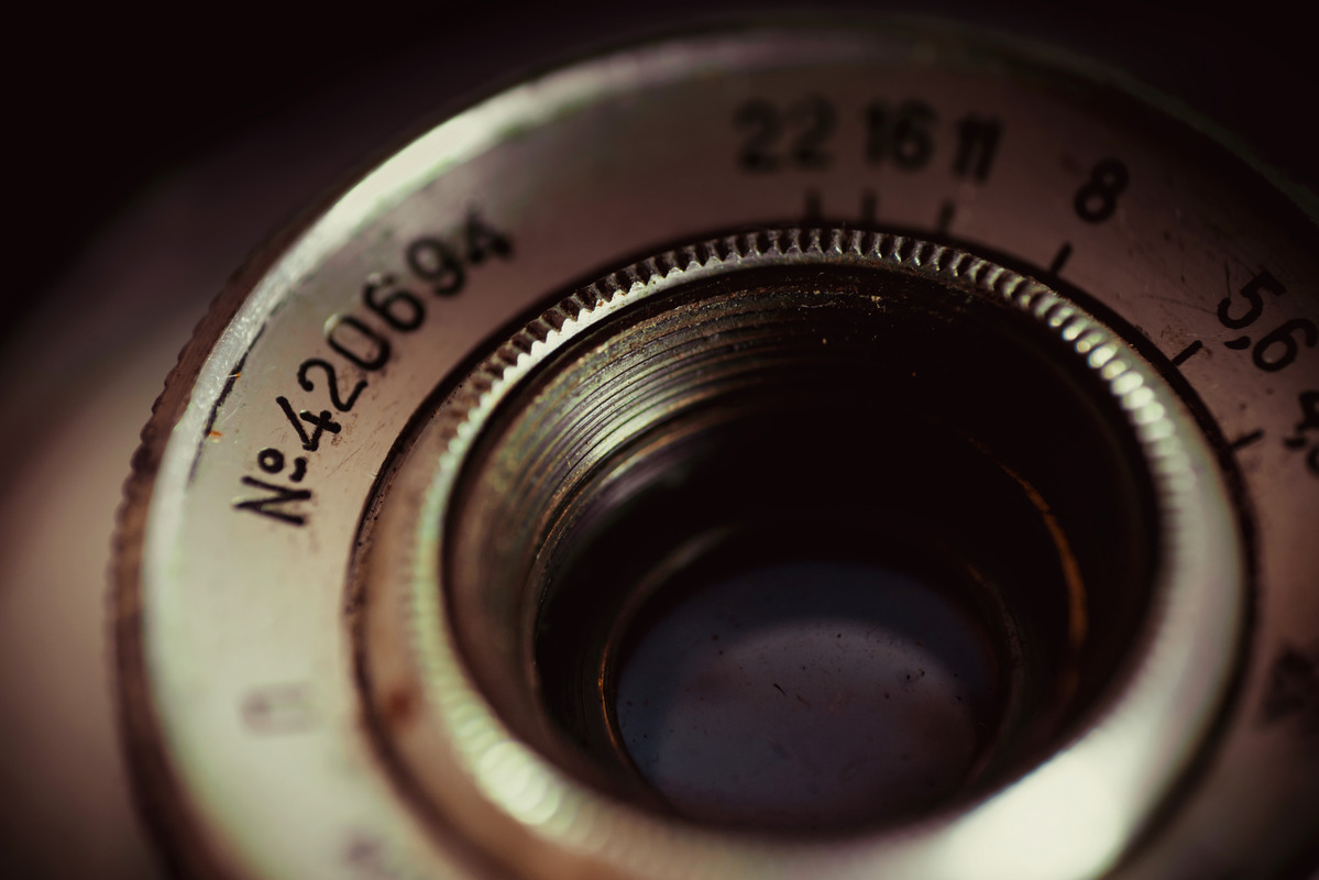 An old camera lens close-up - slon.pics - free stock photos and illustrations