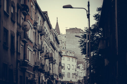 Dorde Jovanovic street. Belgrade, Serbia. - slon.pics - free stock photos and illustrations
