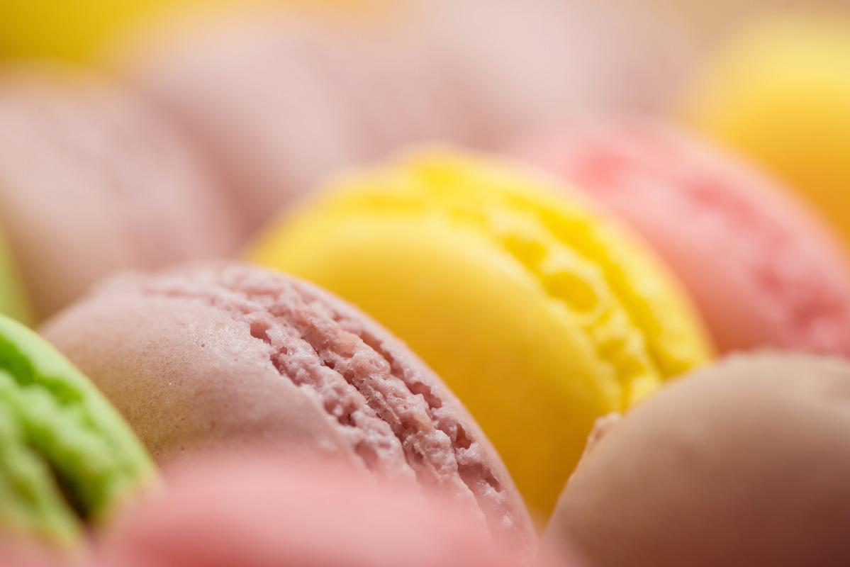 Multi-Flavoured Macarons. Macro photo - slon.pics - free stock photos and illustrations