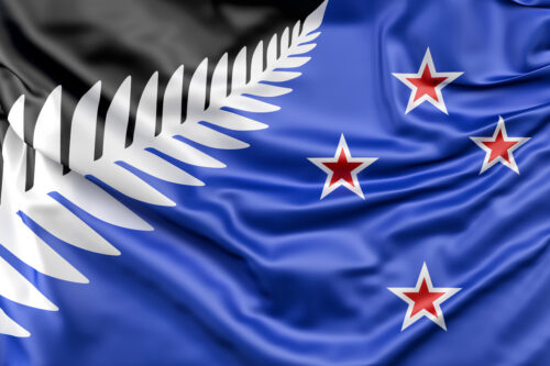 Newly proposed Silver Fern flag of New Zealand - slon.pics - free stock photos and illustrations