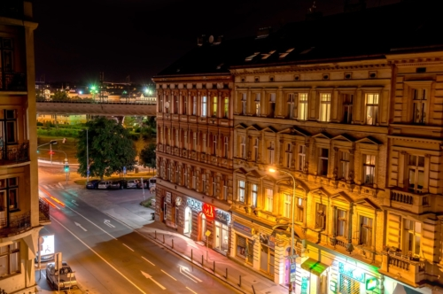 Prague, street view at night. Czech Republic - slon.pics - free stock photos and illustrations