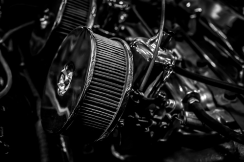 Vintage car engine closeup - slon.pics - free stock photos and illustrations