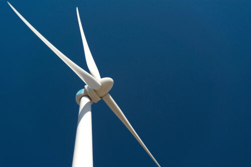 Wind turbine against deep blue sky - slon.pics - free stock photos and illustrations