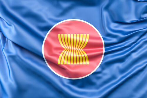 Flag of Association of Southeast Asian Nations (ASEAN) - slon.pics - free stock photos and illustrations
