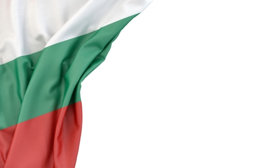 Flag of Bulgaria in the corner on white background. Isolated, contains clipping path - slon.pics - free stock photos and illustrations