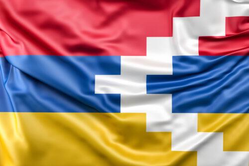 Flag of Nagorno-Karabakh (Nagorno-Karabakh Republic) - slon.pics - free stock photos and illustrations