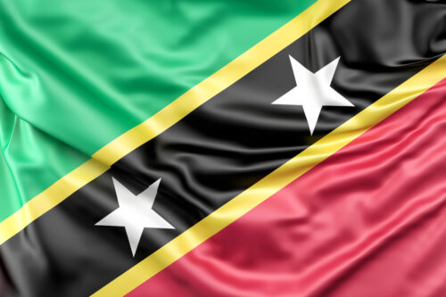 Flag of Saint Kitts and Nevis - slon.pics - free stock photos and illustrations