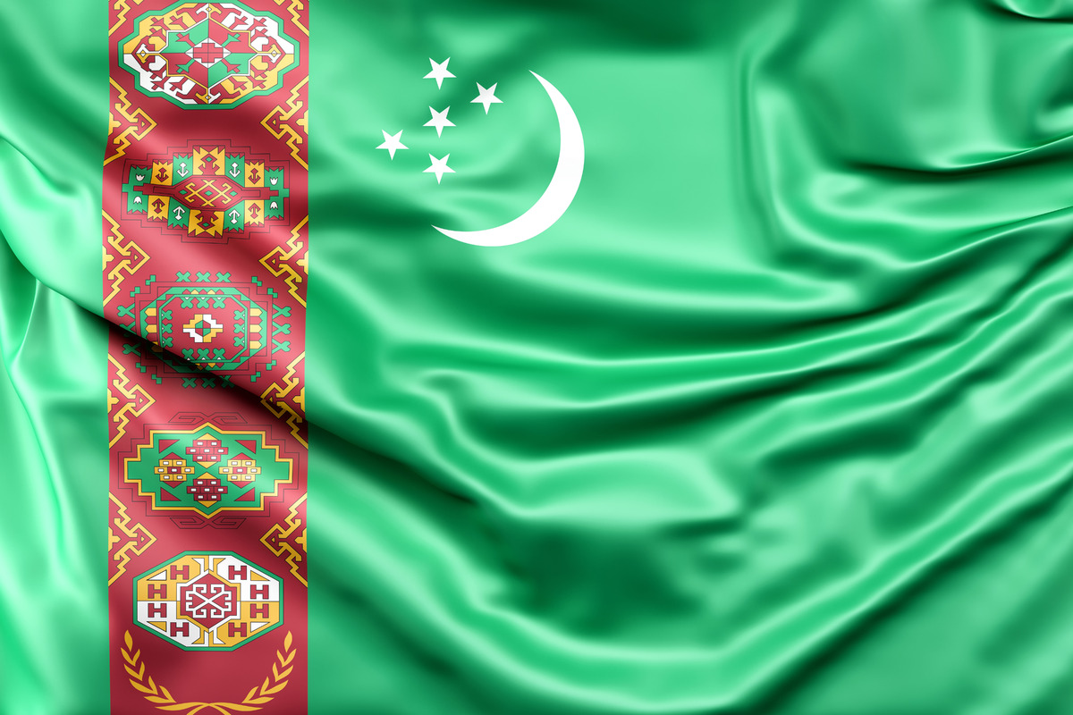 Flag of Turkmenistan - slon.pics - free stock photos and illustrations