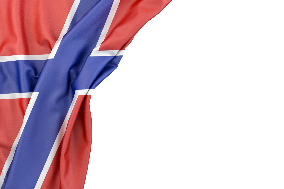 Flag of Novorossiya in the corner on white background. Isolated, contains clipping path - slon.pics - free stock photos and illustrations