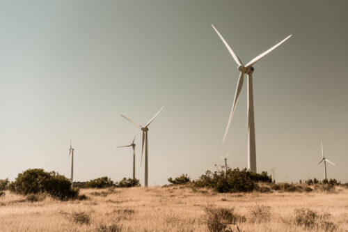 Wind Turbines in Rural setting - slon.pics - free stock photos and illustrations