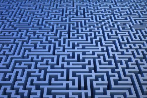 3D maze background - slon.pics - free stock photos and illustrations