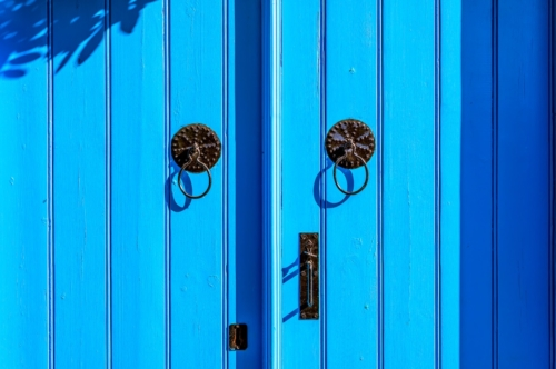 Blue weathered mediterranean style door - slon.pics - free stock photos and illustrations