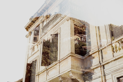 British colonial architecture. Double Exposure concept - slon.pics - free stock photos and illustrations