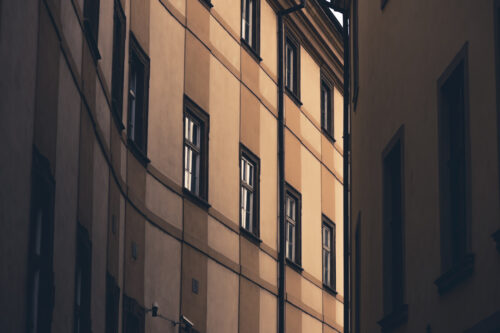 Building Facade. Architectural Background. Somewhere in Prague - slon.pics - free stock photos and illustrations