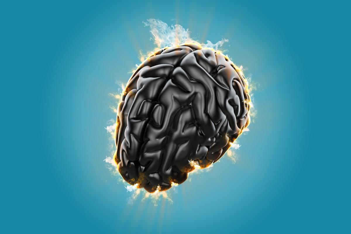 Burning brain. Creative concept of the human brain - slon.pics - free stock photos and illustrations