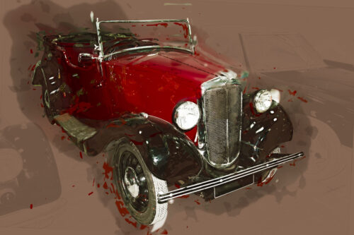 Classic car illustration. Isolated. Contains clipping path - slon.pics - free stock photos and illustrations