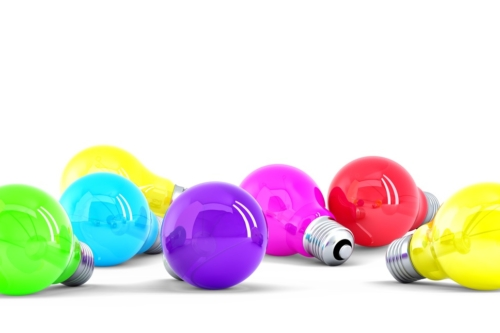 Colorful Light bulbs. Isolated. Contains clipping path - slon.pics - free stock photos and illustrations