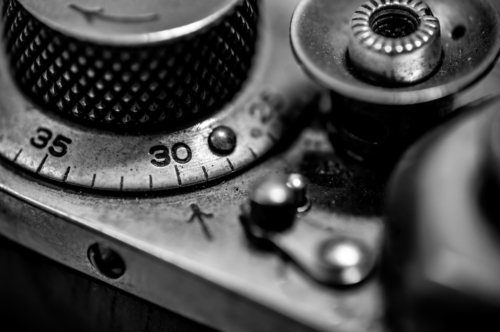 Counter, shutter button and rewind lever of vintage rangefinder camera - slon.pics - free stock photos and illustrations